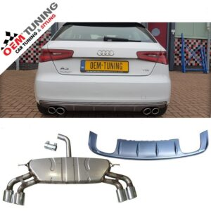 S3 Diffuser + S3 Uitlaat Audi A3 8V 2012-2015 non s-line-0