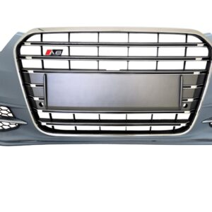 AUDI S6 VOORBUMPER MODEL 4G + S6 GRILLE PLATINUM GREY NON DISTRONIC-0