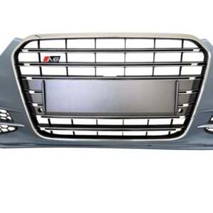 AUDI S6 VOORBUMPER MODEL 4G + S6 GRILLE PLATINUM GREY DISTRONIC -0