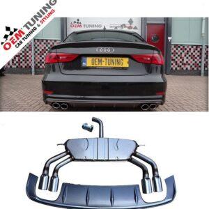 S3 Diffuser + S3 Uitlaat Audi A3 8V 2013-2016 SLINE SEDAN-0