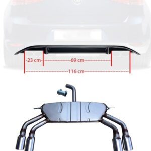 Golf 7 R uitlaat + golf 7 R diffuser | 2012-2016 | -0