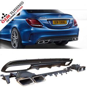 Mercedes-Benz C-Class W205 C63 AMG Look Diffuser | 2014-2018 | black-0