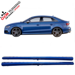 AUDI S3 Sline Sideskirts | SEDAN 8V | LY5Q sepang blue | OEM ONDERDEEL-0