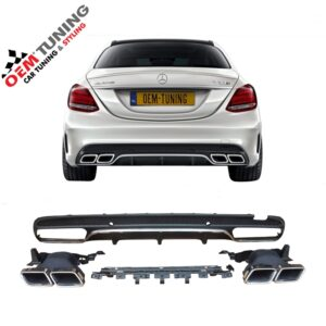MERCEDES-BENZ C-CLASS W205 C63 AMG LOOK DIFFUSER | 2014-2018 | Chrome | -0