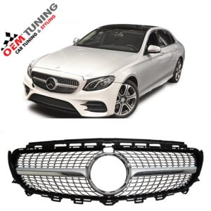 Mercedes-Benz E-Class W213 S213 | Silver Diamond GRILLE | 2016-2018 | -0
