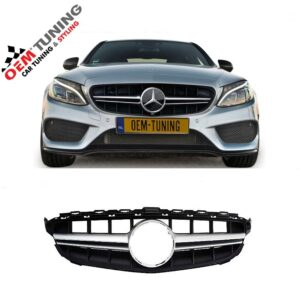 Mercedes-Benz C-Class W205 | AMG Grille SILVER | 2014-2018-0
