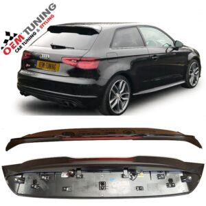 AUDI A3 S3 8V Sline Dakspoiler | Hatchback | FZ9Z Panter Black Pearle effect | OEM | 2012-2018 |-0
