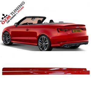 AUDI S3 Sline Sideskirts | Cabrio 8V | LY3J Brilliant Red |-0