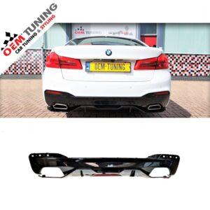 BMW 5 serie G30 G31| M-Performance Diffuser M-TECH | Hoogglans zwart-0