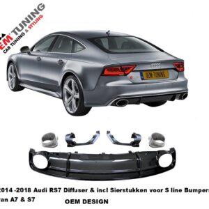 A7 S7 Diffuser | RS7 Design | 2014 - 2018 | voor s line | chrome sierstukken |-0