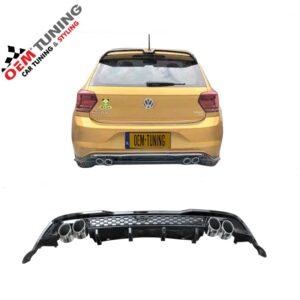 VW POLO 2G Diffuser | 7.5 R look Diffuser | 2017- 2020 | Hoogglans zwart-0